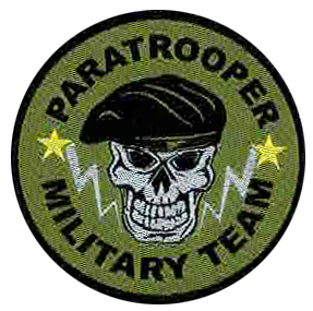 Label military style 004 Paratrooper