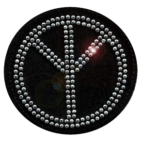 Label strass style 003 PEACE