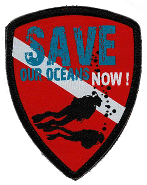 Label Diver style 003 Save our oceans now !